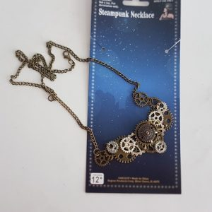 Steampunk cogwheel necklace