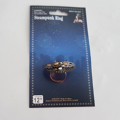 Steampunk cogwheel ring