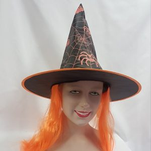 Witch hat with orange hair