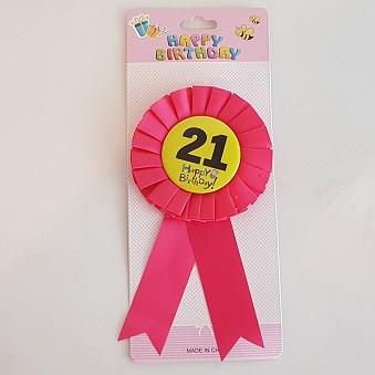 21 Happy birthday badge