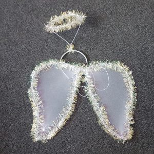 Angel wing set with tinsel