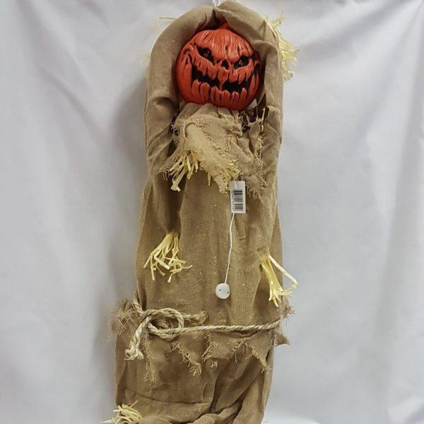 Scarecrow pumpkin Halloween prop.