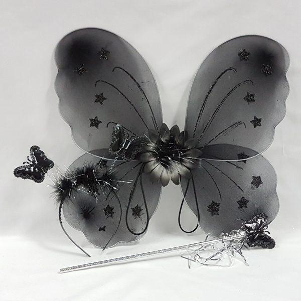 Black fairy wing set