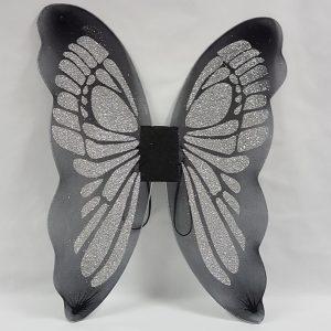 Black & silver butterfly fairy wings