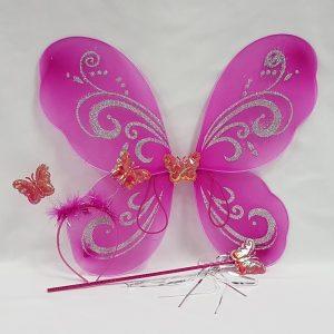 Cerise pink wing set