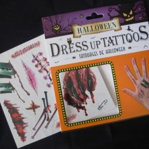 Temporary halloween tattoos
