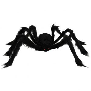 Hairy fake spider Halloween decoration