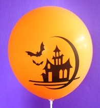 Halloween haunted house balloons
