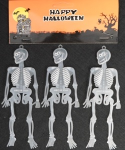 Pack of small plastic skeletons