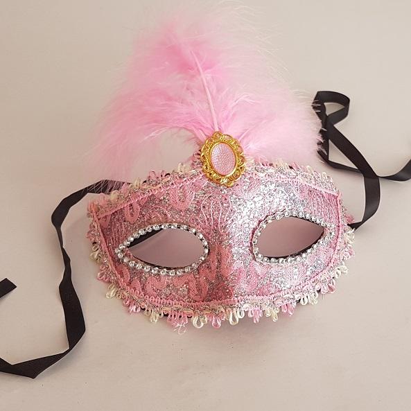 Pink lace mask
