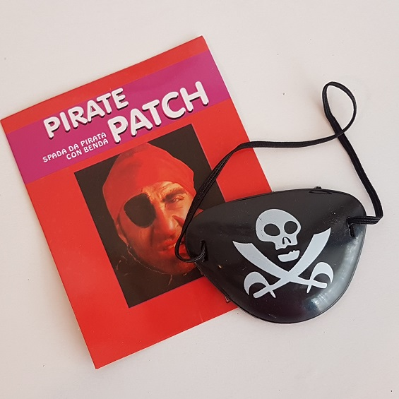Pirate eye patch plastic