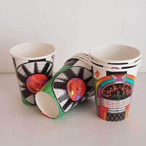 Rock n Roll paper cups
