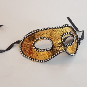 Sequin mask - gold