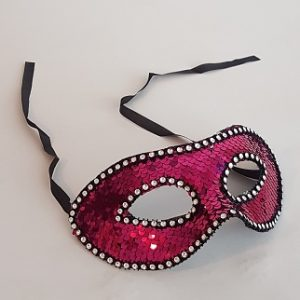 Pink sequin mask