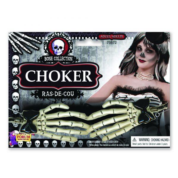 Skeleton hand choker