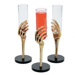 Skeleton hand glass