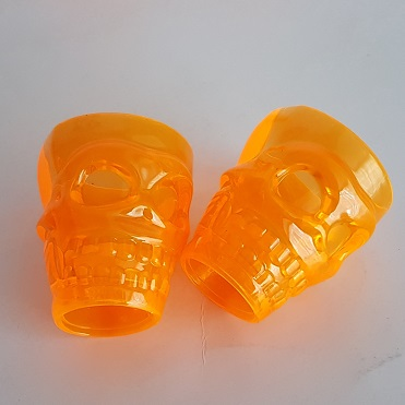 Orange skull shot glasses