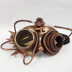 Steampunk mask copper