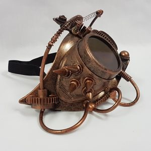 Steampunk mask copper side view