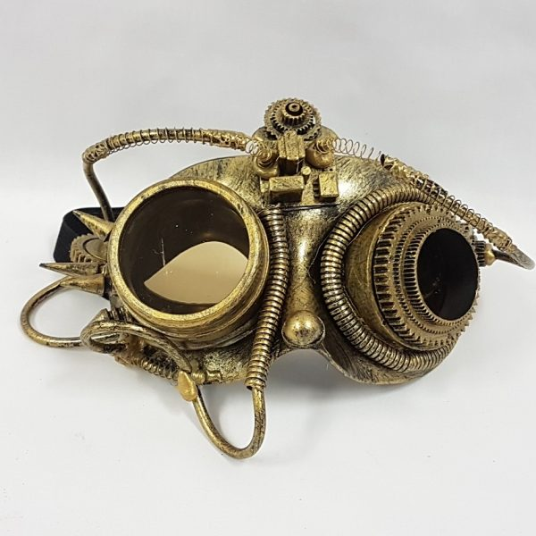Steampunk mask - gold