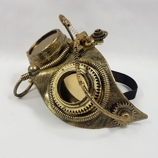 Steampunk mask - gold side view