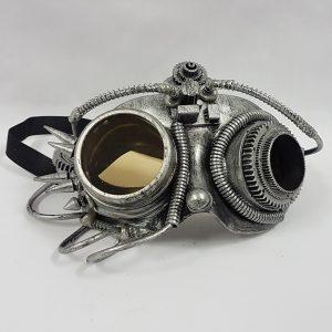 Steampunk mask - silver