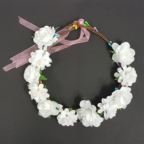 White flower head ring