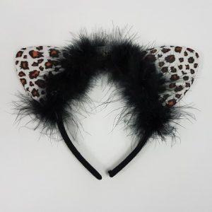 White leopard headband