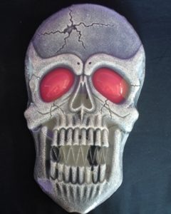 Large light up skull decoration