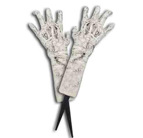 Zombie ground breaking hands