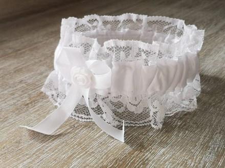 White lace garter