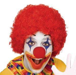 Red clown wig child