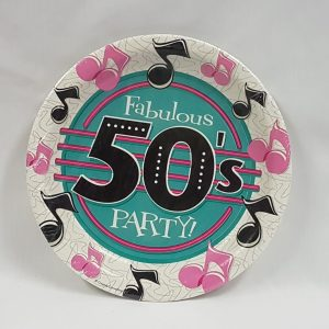 50's themed paper plates