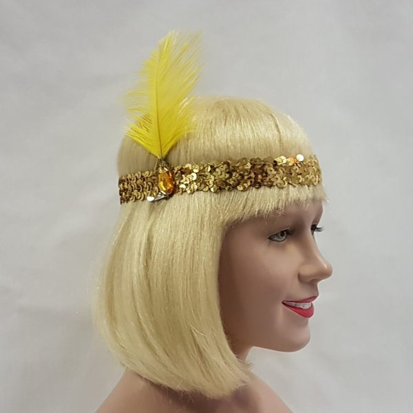 Flapper headband gold