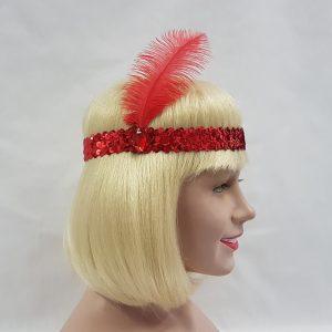 Gatsby headband - red