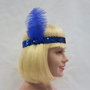 Flapper headband - royal blue