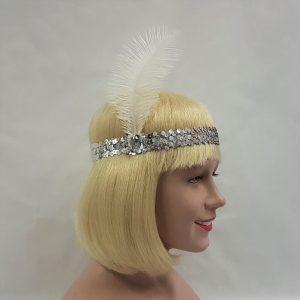 Gatsby headband - silver