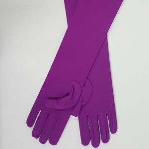 Long purple gloves