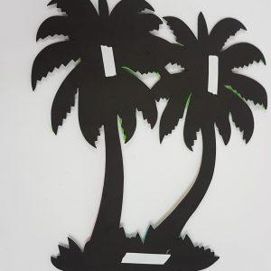 Palm tree decor back view