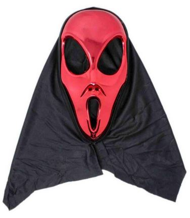 Red Alien mask with hood
