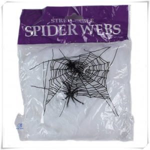 Stretchable spider web with 2 spiders