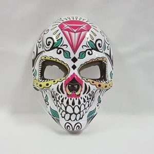 Day of the Dead mask diamond design