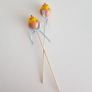 Easter decor on sticks
