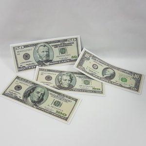 Fake toy dollar notes