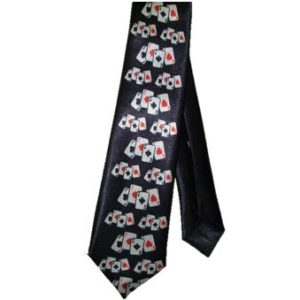 Black card tie