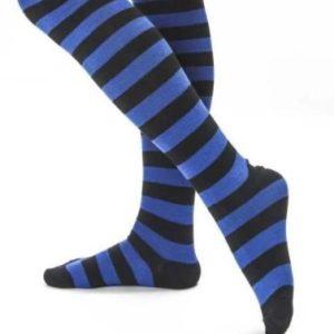 Blue & black stripe socks