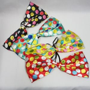 Polka dot clown bow ties