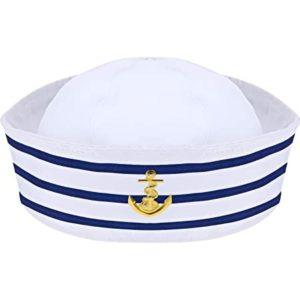 Sailor hat with blue stripes