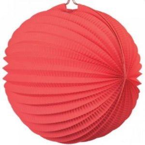Red accordion paper ball