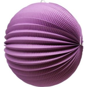 Accordion paper ball mauve
